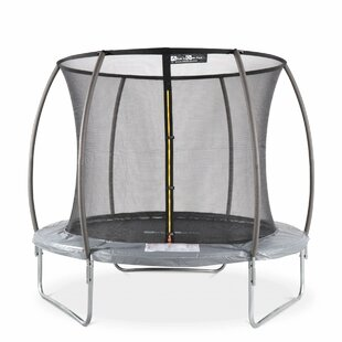 Aquarius 10' Round Trampoline With Safety Enclosure By Freeport Park