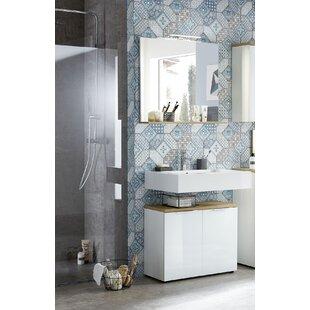 Esquivel 2 Piece Bathroom Storage Furniture Set With Mirror By Ebern Designs