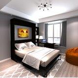 Munn Desk Queen Storage Murphy Bed by Brayden Studio®
