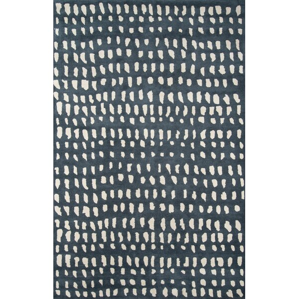 Delmar Abstract Handmade Tufted Wool Blue Ivory Area Rug Reviews Joss Main