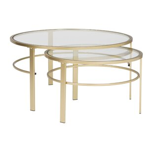Corbel Round Nesting 2 Piece Coffee Table Set