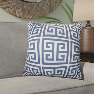 Yula Greek Key Cotton Throw Pillow (Set of 2)