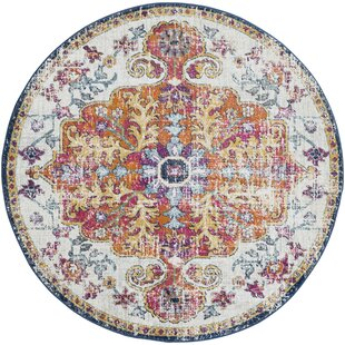 8x8 round rugs amazon com hillsby blueorange area rug round rugs youll love wayfair
