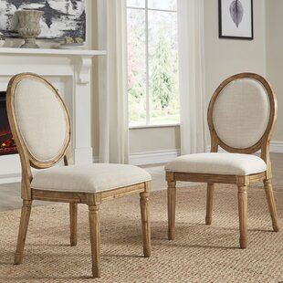 Lachance Round Upholstered Dining Chair (Set of 2) Ophelia & Co.