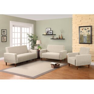 Mid 3 Piece Living Room Set By Container