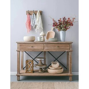 Gracie Oaks Chew Magna Timber Console Table