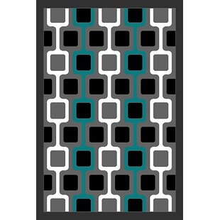 Read Reviews Cottrill Turquoise/Black Area Rug ByEbern Designs
