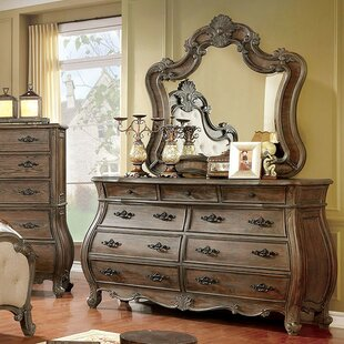 Kaylynn 9 Drawer Double Dresser with Mirror