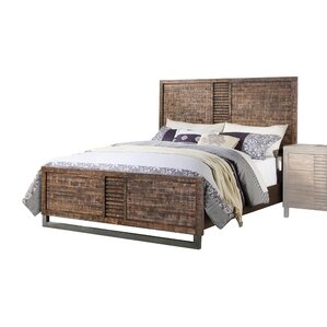 andria reclaimed oak panel bed