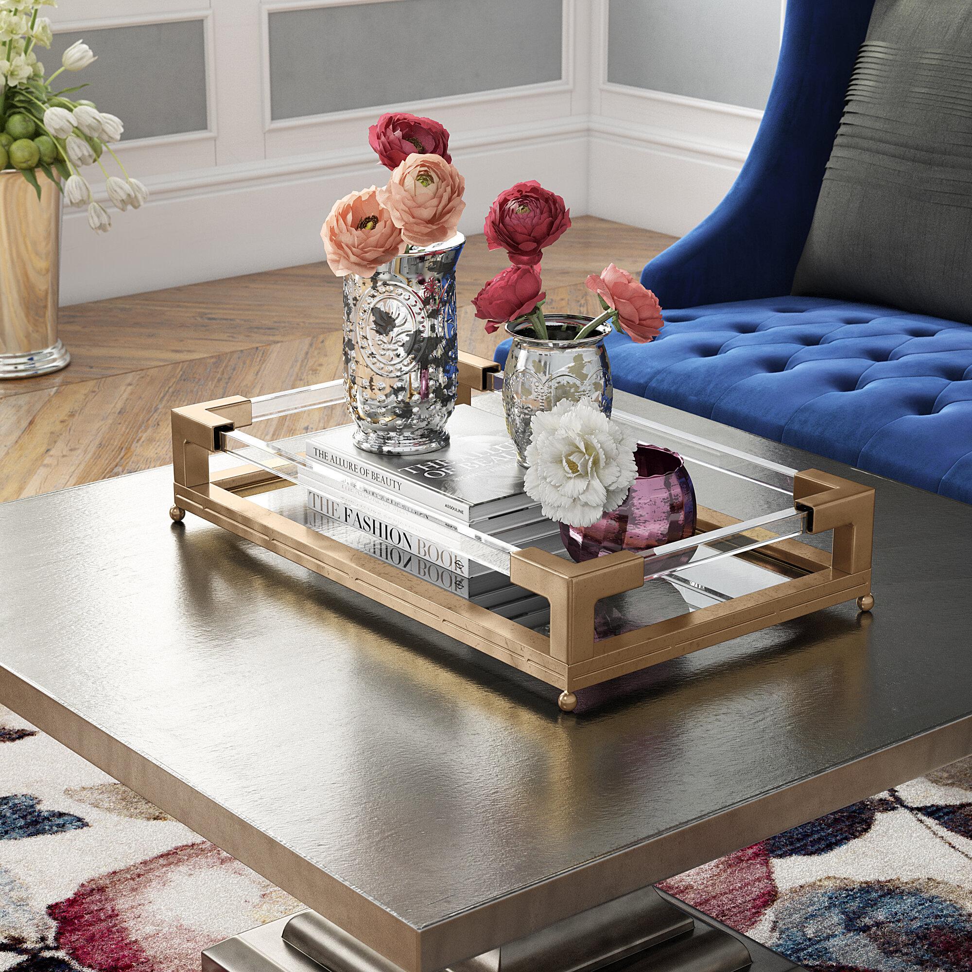 Willa Arlo Interiors Rectangle Mirrored Tray Reviews
