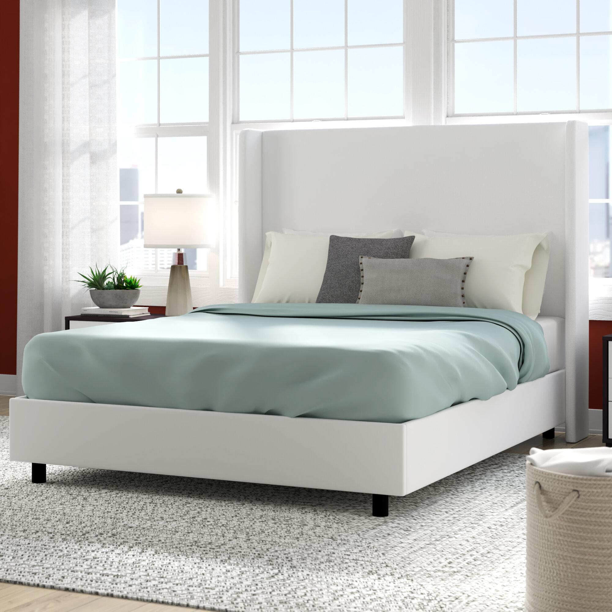 Brayden Studio Goodrich Velvet Upholstered Standard Bed Reviews Wayfair