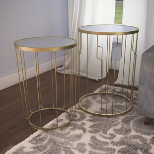Willa Arlo Interiors Egham 2 Piece Nesting Table