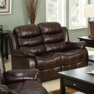 Penski Leather Reclining Loveseat