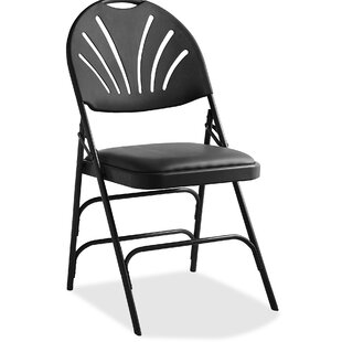 Fanback Vinyl Padded Folding Chair (Set of 4) by Samsonite