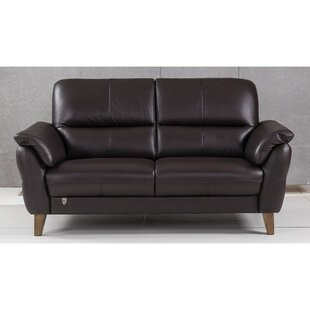 Shriner Leather Loveseat by Brayden Studio Coupon