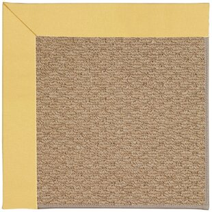 Lisle Machine Tufted Lemon/Brown Indoor/Outdoor Area Rug