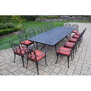 Oakland Living Berkley 15 Piece Dining Set with Cushions