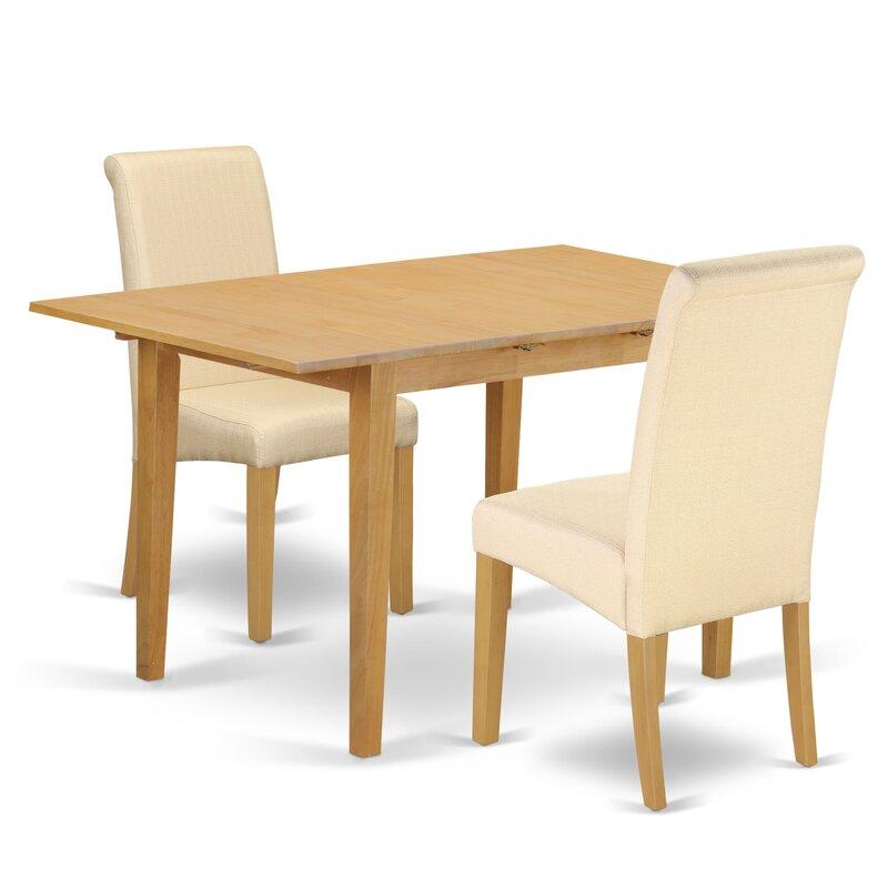 winston porter carlie kitchen table 3 piece extendable