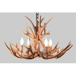 Loon Peak Alvie Mule Deer 4-Light Chandelier