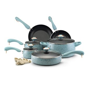 Paula Deen Signature Porcelain 15 Piece Non-Stick Cookware Set