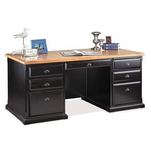 Martin Home Furnishings Southampton Onyx Double Pedestal Executive Desk