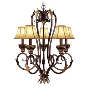Astoria Grand Rowanna 5-Light Shaded Chandelier