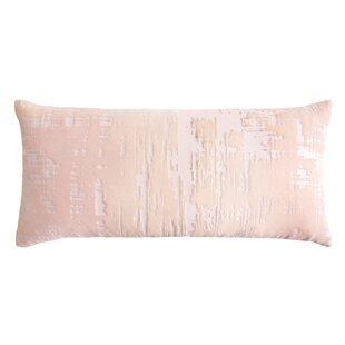 Brushstroke Velvet Lumbar Pillow