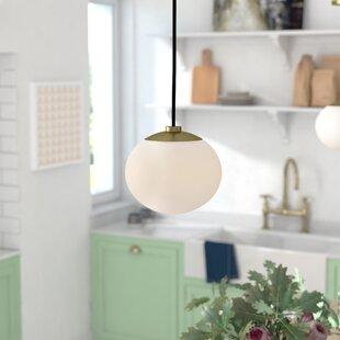 Gideon 1-Light Globe Pendant by Brayden Studio