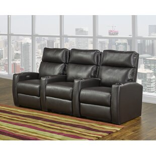 Home Theater Sofa (Row of 3) by Red Barrel Studio