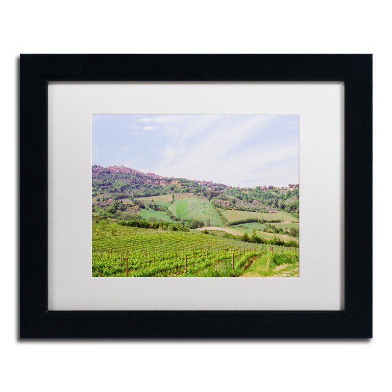 Trademark Art Tuscany Framed Photographic Print On Canvas Wayfair