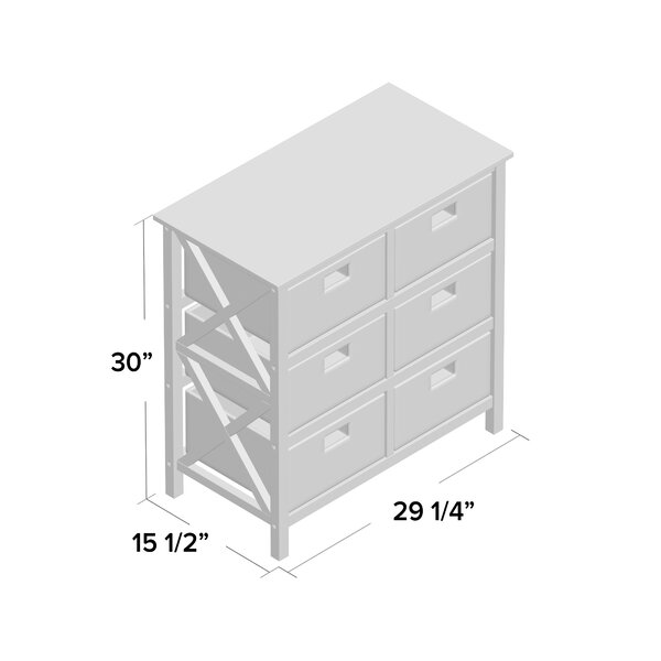 Schimpl Solid Wood 6 Drawer Accent Chest