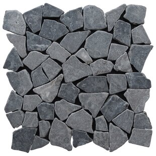 Review Fit Random Sized Natural Stone Pebble Tile in Grey by Pebble Tile