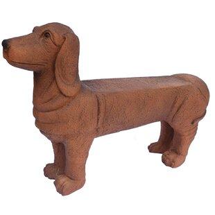 Seawright 1 Person Dog Cold Cast Stone Garden Bench by Red Barrel Studio