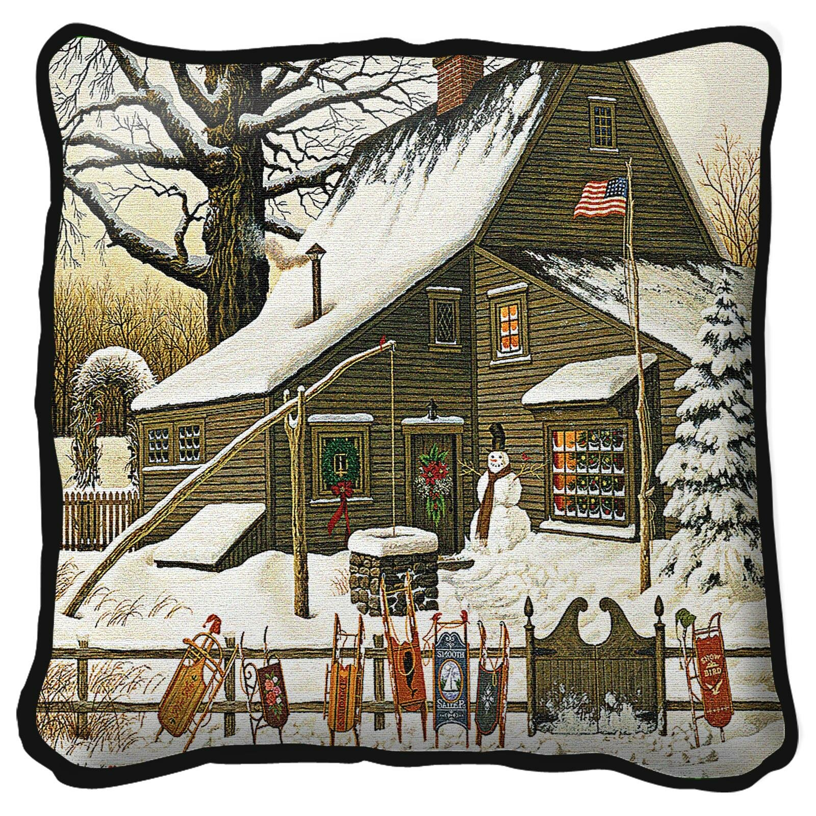 August Grove Islas Cocoa Break At The Copperfields Cotton 17 Throw Pillow Cover Wayfair