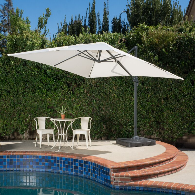 Cantilever Umbrellas Youll Love Wayfair - Coolaroo 10 foot round cantilever freestanding patio umbrella mocha