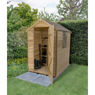 4 Ft. W X 6 Ft. D Overlap Apex Wooden Tool Shed By WFX Utility