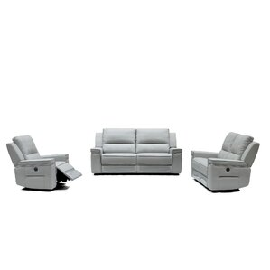 Colmar Leather 3 Piece Living Room Set by Or..