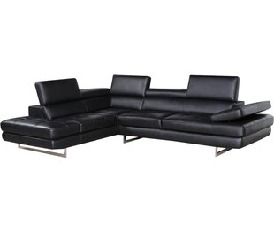 Clement Leather Sectional ..