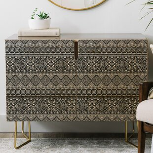 Heather Dutton Grand Bazaar Slate Linen Credenza by East Urban Home