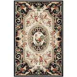 Kinchen Hand-Hooked Wool Black Area Rug by August Grove