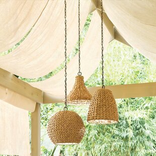 Durrant 1-Light Wicker Outdoor Pendant by Mistana
