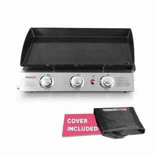 Royal Gourmet Corp Portable Propane Griddle Grill with Triple Burner Stove