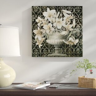 4b6ce52c1f1a  Lilies In Urn  Graphic Art Print on Canvas