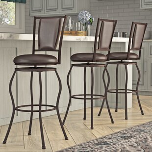 Alivia Adjustable Height Bar Stool (Set of 3) Fleur De Lis Living