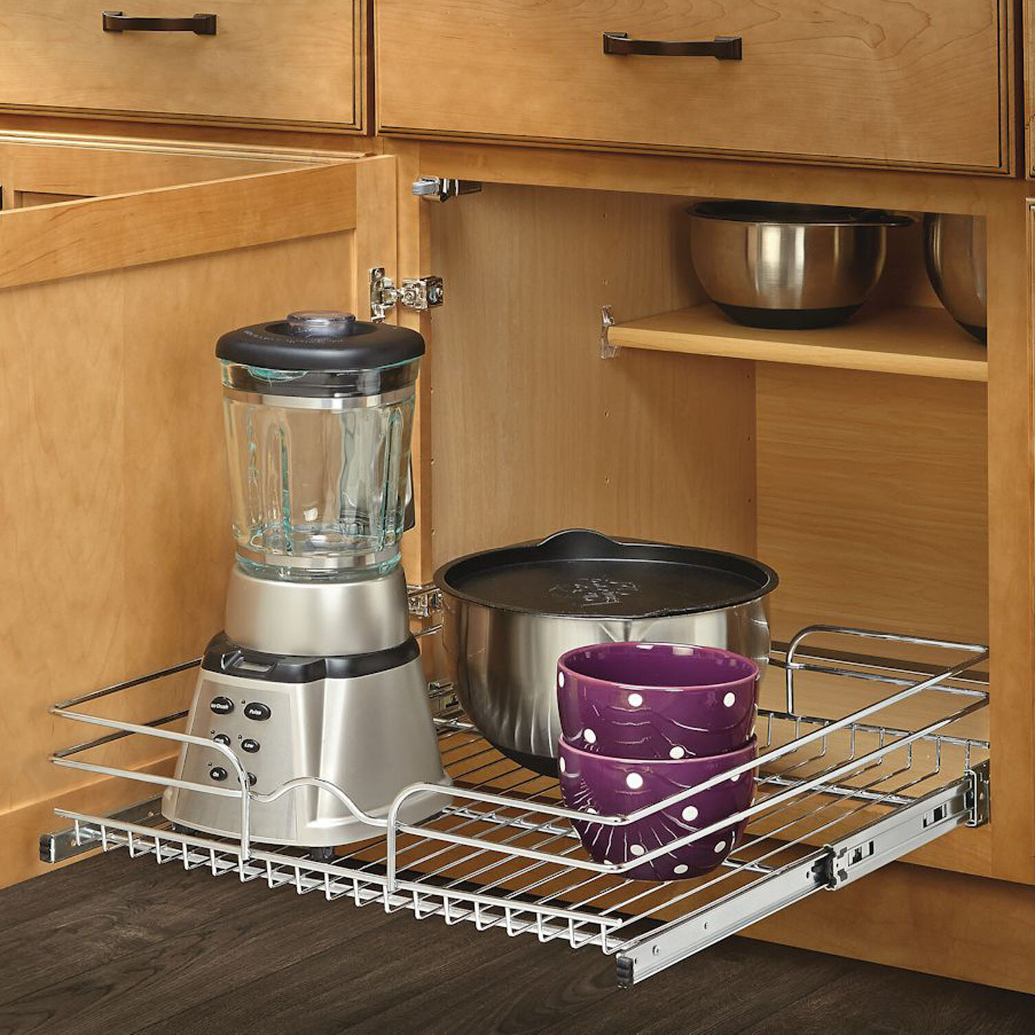 Rev A Shelf 21 X 22 Roll Out Wire Basket Cabinet Organizer Rack Reviews Wayfair