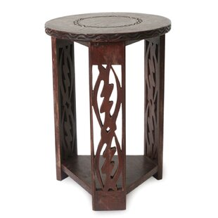 I Fear Only God Wood End Table