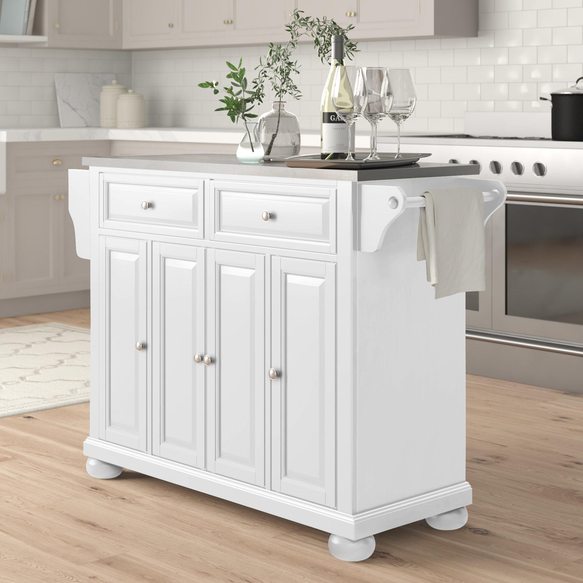 White Kitchen Islands Carts You Ll Love In 2020 Wayfair