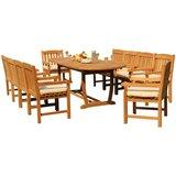 Massenburg 11 Piece Teak Dining Set