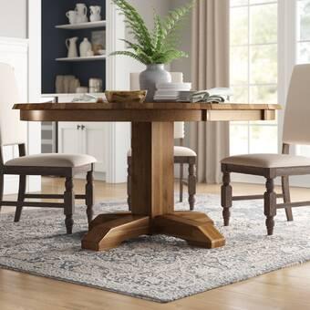 Alcott Hill Padiham Extendable Solid Oak Dining Table Wayfair