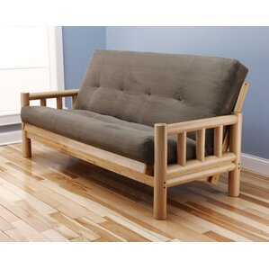 Lodge Suede Futon and Mattress by Kodiak Furniture